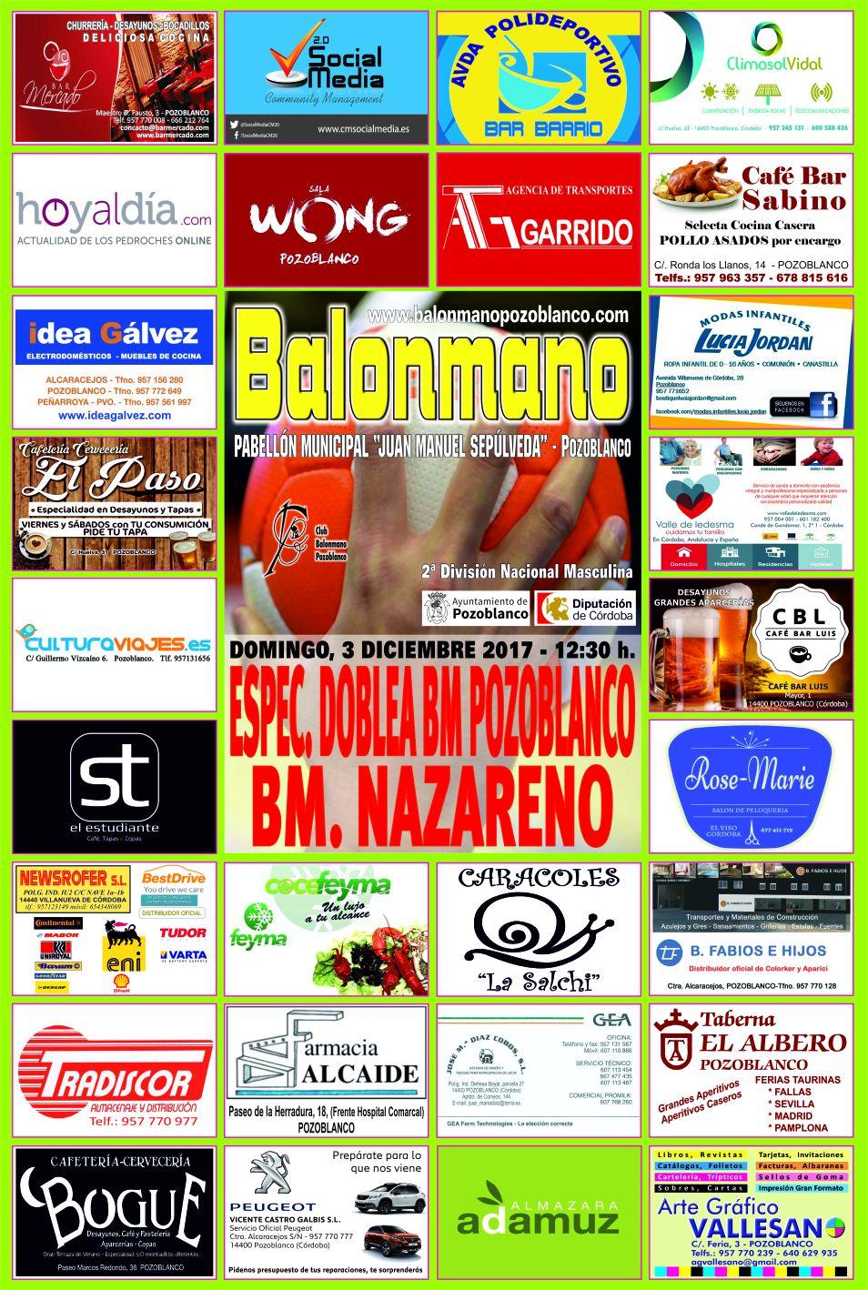 BM Pozoblanco - BM Nazareno