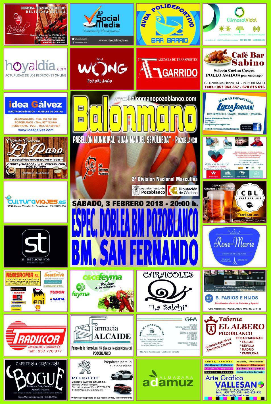 Balonmano Pozoblanco - BM San Fernando